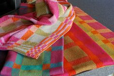 Handwoven Tea or Kitchen Towel Retro Blocks by HandwovenHome