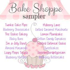 ALL things bakery scent!  Bake Shoppe Sampler   26 oz   18 scents   1.5 oz each - Zeep : {'z-ayp}