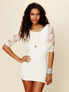 Free People Open Back Lace Tunic, $78.00 <--I want something like this for my bachelorette party :)