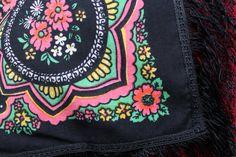 Vintage shawl.Black Flower Shawl.Floral от StyleVintageShop