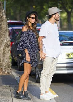 An afternoon in the sun:The pair were apparently on their way to the Australian Tropfest ...