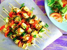 Monash University Low FODMAP Diet: Low FODMAP BBQ Chicken Skewers with Lemon Sauce
