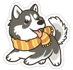 Siberian Husky Sticker #CoolStuff