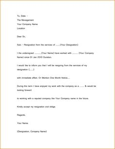 Simple resignation letter 1 month notice as sample letter of simple resignation letter sample 1 month notice new calendar expocarfo