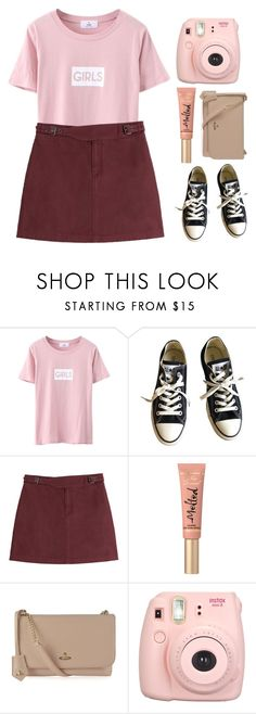 """""""It's a girl thing"""" by aby-ocampo ❤ liked on Polyvore featuring Converse, Marc by Marc Jacobs, Too Faced Cosmetics, Vivienne Westwood and Fuji"""