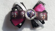 Jack N' Sally hair Bow (bow 2) Nightmare Before Christmas, party favor, - pinned by pin4etsy.com