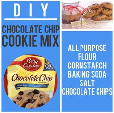Chip Cookie Mix Recipe: For the most perfect chocolate chip cookies, combine butter and dark brown and white sugar, add eggs, vanilla, and dry mix. Chocolate Chip Cookie Mix, Perfect Chocolate Chip Cookies, Salted Chocolate, Chocolate Art, Homemade Dry Mixes, Homemade Seasonings, Homemade Spices, Bisquick Pancake Mix, Cookie Recipes