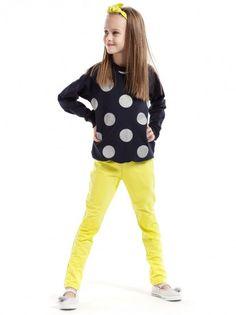 b7eb847f04c4 Dětské legíny pro každodenní nošení KIDIN - žlutá