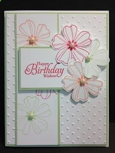 Stampin Up Projects | Flower Shop Birthday Card Stampin' Up! Rubber Stamping Handmade Cards