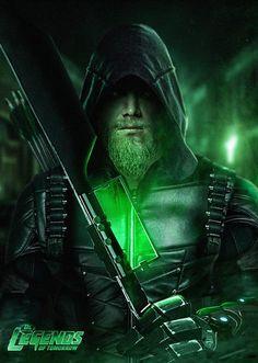 Green Arrow Legends of Tomorrow by Bosslogic Dc Comics Superheroes, Dc Comics Art, Marvel Dc Comics, Green Arrow, Arrow Cw, Team Arrow, Flash And Arrow, Arrow Tv Series, Arrow Black Canary