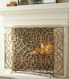 Beautiful fire screen, we need one of these built for the living room
