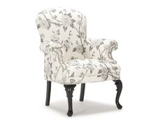 The Burak Chair is a small, classic Queen Anne parlour chair with a rounded back and finely shaped cabriole legs.  The short but comfortable seat makes it useful for additional seating when extra guests arrive.