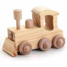 Darice Wood Toy Kit, Locomotive, 4 inch x 2.75 inch, Beige