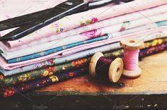 Vintage thread spools by just_me on @creativemarket