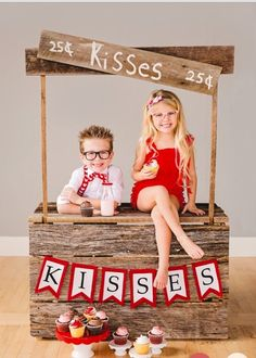 Kissing Booth Upcycled Childs KISSING BOOTH made from reclaimed weathered barn w. - Kissing Booth Upcycled Childs KISSING BOOTH made from reclaimed weathered barn wood kids use for pl - Valentine Mini Session, Valentine Picture, Valentines Day Photos, Valentines Gifts For Boyfriend, Photography Props Kids, Photography Mini Sessions, Holiday Photography, Photo Sessions, Kids Lemonade Stands