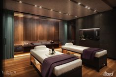 Hotel spa & relax area. Interior 3d visualization for Iliard Architecture & Project management.