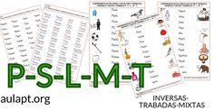 Siguiendo con las tareas compartidas esta mañana para trabajar la lectura de palabras con los fonemas P-L-S-M comparto estas nuevas tareas que incluye el fonema
