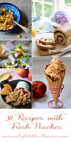 30 #Recipes with Fresh #Peaches #summer #fresh #fruit
