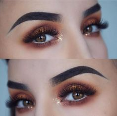 Have you checked out my makeup tutorial for this look? Link is in my bio 💖💋🔥 Makeup Goals, Makeup Inspo, Makeup Tips, Makeup Stuff, Gold Makeup, Eyeshadow Makeup, Hair Makeup, Beauty Make-up, Beauty Hacks