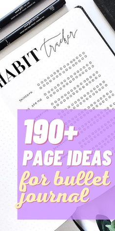 Bullet Journal can virtually help you with anything. Check out this list of 190  Bullet Journal page ideas for you to get the maximum out of your planner! #bulletjournal #howtostartabulletjournal #bujo#pageideas