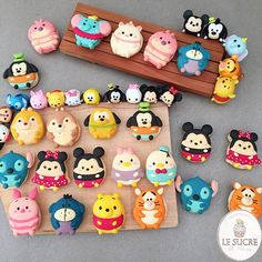 Disney Tsumtsum Full body macaron set available from goodies, box of 7, box of 8, box of 12, big circle box from our website www.lesucre-macaron.com #love #cute #instacute #instafood #instagood #instalike #instadaily #disneyufufy #disneytsumtsum