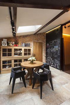 Rusztikus és modern berendezés az étkezőben - konyha / étkező ötletek, eklektikus stílusban