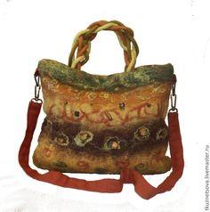 """Купить Сумка """"Джунгли"""" - сумка из войлока, войлочная сумка, валяная сумка, летняя сумка ♡"""