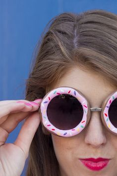 DIY Donut Sunglasses Tutorial by Studio DIY