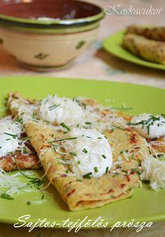 Sajtos, tejfölös prósza Hungarian Recipes, Fruits And Vegetables, Scones, Quiche, Potato Salad, Food And Drink, Cooking Recipes, Ethnic Recipes, Foods