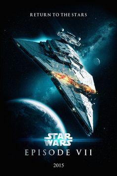 Star Wars: Episode VII fan-made poster? Star Wars Vii, Star Wars Rebels, Star Wars Episodio Vii, Tableau Star Wars, Millenium, Images Star Wars, Movie Talk, Fan Poster, Vinyl Poster