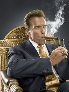 I met Arnold Schwarzenegger while freelancing for San Jose Magazine. He was cool, he even gave me advice on which cigars to buy for my husband for his birthday.