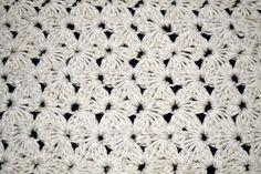 Punto Jazmín tradicional, en tejido crochet.