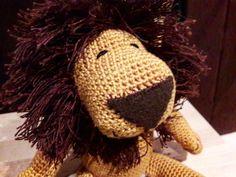 Szydełkowy lew/crochet lion made by kulkizfilcu