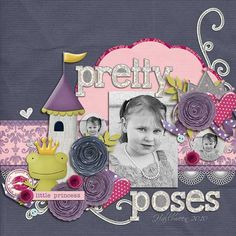 Layout by Natalie using Frogs and Kisses Digital Scrapping Kit by Simple Girl Scraps