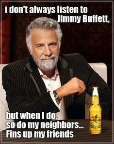 Gotta appreciate his support! #FinsUp #JimmyBuffett #Parrotheads