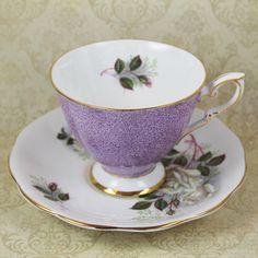 Vintage Royal Standard Purple Floral English Bone by scdvintage, $22.00