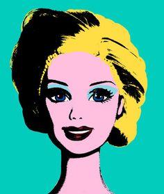 'Warhol' Barbie...kids could make self portrait using Warhol style