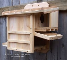 classic cedar squirrel house