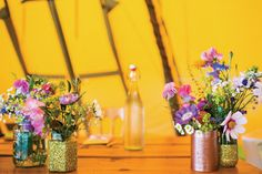 David and Faye's colourful tipi wedding in Kent  | www.onefabday.com