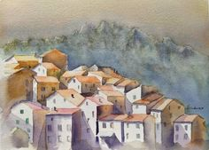Original Art Watercolor Painting, measuring: 30W x 23H x 0D cm, by: Horacio Cobas (Argentina). Styles: Figurative, Fine Art. Subject: Landscape. Keywords: Corsica, Houses, Buildings, Dawn, Corcega, Corse, Isle, Mountains, Architecture, France, Village. This Watercolor Painting is one of a kind and once sold will no longer be available to purchase. Buy art at Saatchi Art. Original Art, Original Paintings, Figurative Art, Buy Art, Watercolor Paintings, Paper Art, Saatchi Art, Fine Art, Landscape