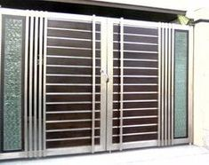 Stainless Steel Main Gate at Rs 1200 . Gate Wall Design, Home Gate Design, Grill Gate Design, House Main Gates Design, Steel Gate Design, Front Gate Design, Garage Door Design, Front Gates, Entrance Gates
