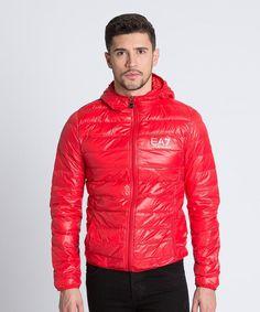 EA7 Core Logo Down Jacket - Red Mens EA7 Jackets & Coats - EA7 Clothing T91s2958