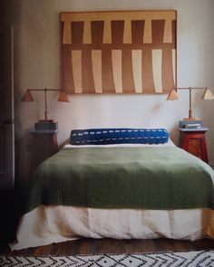 From The World of Interiors, a bedroom in a London home designed by Will Fisher of Jamb