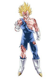 Majin Vegeta - Dragon Ball Z Anime Echii, Anime Comics, Majin, Foto Do Goku, Dbz Characters, Fictional Characters, Dragon Ball Gt, Character Design, Cartoon
