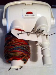 Boye Electric Yarn Ball Winder - (c) Sarah E. White, licensed to http://About.com, Inc.
