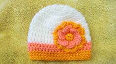 Crochet Flower Hat, Baby Girl Clothes, Newborn Girl Beanie, Baby Girl Photo Prop, Toddler Flower Hat, Baby Skull Cap, Spring Hat, Pink by TheFlyButterFactory on Etsy