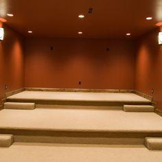Media Room risers ... #Design #Entertainment #EntertainmentRoom #Interior #InteriorDesign #HomeDecor