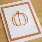 Pumpkin Stitched Card Pattern