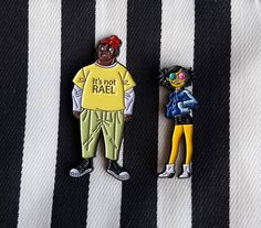 Russel and tanned noodle pin set