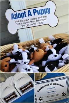 love this puppy themed party get the look dog party printables from ...